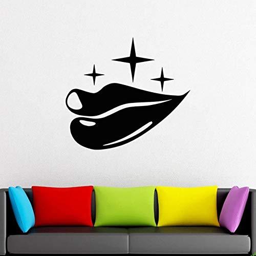 yaonuli Lippen Muurtattoo Kus Glimlach Lippenstift schoonheidssalon vrouw slaapkamer vinyl sticker lippen verwijderbare muurschildering