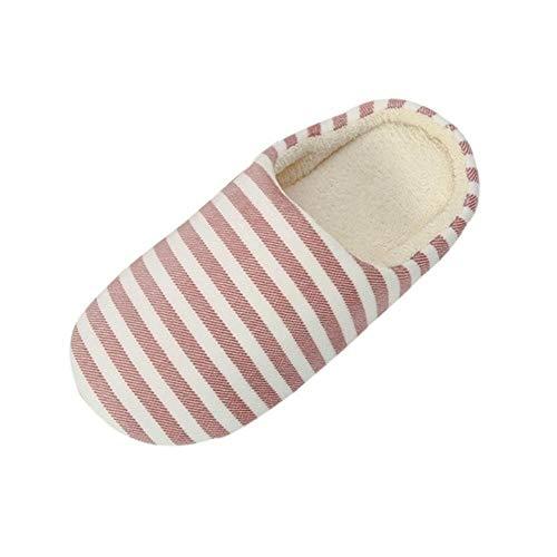 LALY A SHOP Chaussons Femmes à rayures Dessous pantoufles douces Pour la Maison chaudes Chaussures en Coton