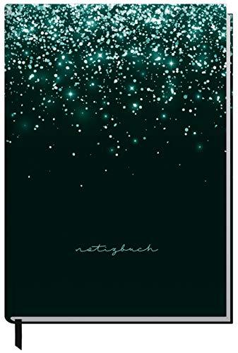 Notizbuch A5 liniert [Glitter] von Trendstuff by Häfft | 126 Seiten | ideal als Tagebuch, Bullet Journal, Ideenbuch, Schreibheft | nachhaltig & klimaneutral