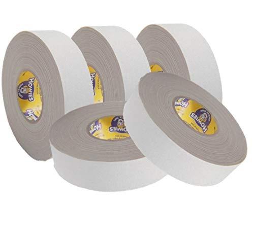 Howies 5X Schlägertape Profi Cloth Hockey Tape weiß 25mm f. Eishockey, je 25 m