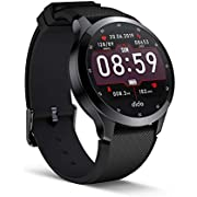 Fitness Tracker Bluetooth Smart Watch with Activity Tracking Heart Rate Sleep Monitoring Pedometer Notifications IP68 Waterproof Compatible with IOS8.0 Android 4.4 and Above for Men Women(Black)