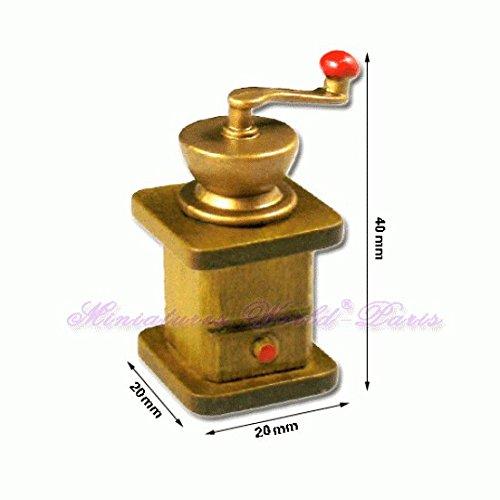 Miniatures World - Koffiemolen van hout en hars voor miniatuurdecors en poppenhuizen in schaal 1:12