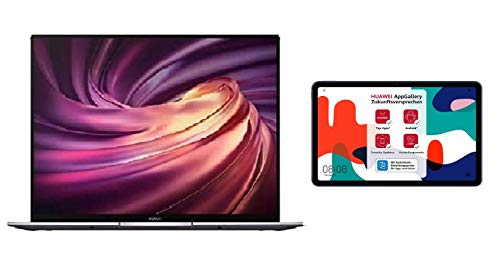 HUAWEI MateBook X Pro 2020 13,9 Zoll 3K-FullView-Touchscreen Notebook, 10th Gen Intel i5, 16GB RAM+ 512GB SSD + MatePad 10,4 Zoll, 2K FullView Display, WiFi Tablet-PC