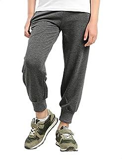 Kady Cotton Ribbed-Trim Drawstring-Elastic Waist Sweatpants for Kids - Heather Dark Grey, 8 Years