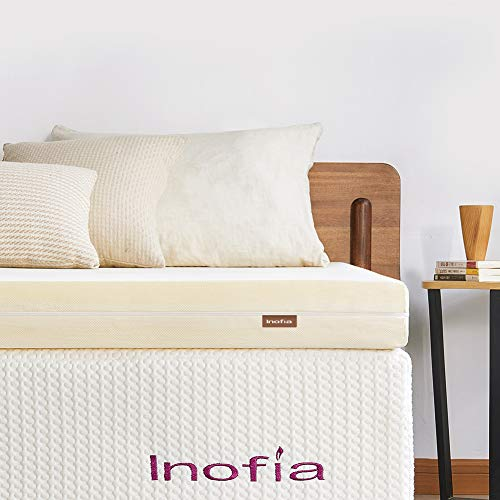 Inofia Memory Foam Mattress Topper Indulgent Comfort with Extra Pressure Relief,SAYMOR Origin Collection Ample Perfect Support,Long Lasting restful Sleep 100 Night Home Trial (S King(180x200x5.5cm))