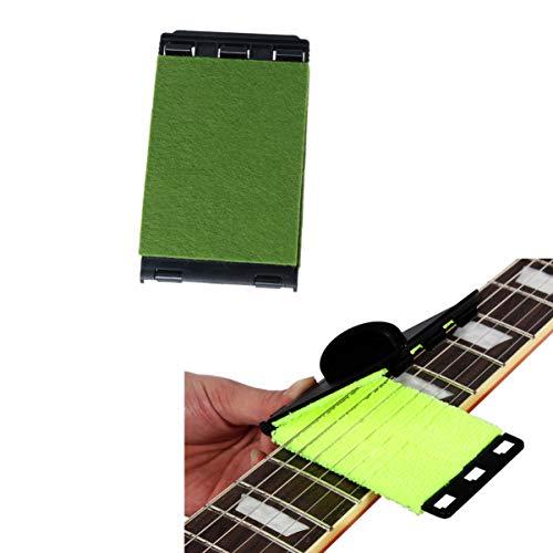 LEORX Herramienta de mantenimiento para limpieza de cuerdas de guitarra