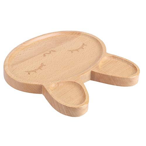Bandeja para servir bocadillos Plato de madera de diseño dividido Plato infantil para niños para hoteles