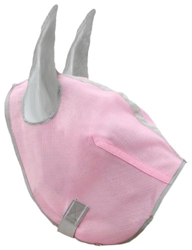 Hamilton Fly Mask for Horses Without Ears - Large - Pink Diamond