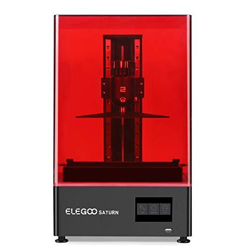 ELEGOO Saturn MSLA 3D Drucker UV Photocuring LCD 3D Drucker mit 4K Monochrome LCD, Matrix UV LED Lichtquelle, Offline und LAN Druck, Druckgröße 192 * 120 * 200mm/7,55 Zoll * 4,72 Zoll * 7,87 Zoll