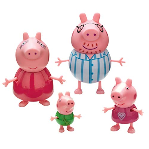 Peppa Pig - Pack de 4 Figurines Famille Pig Pyjama