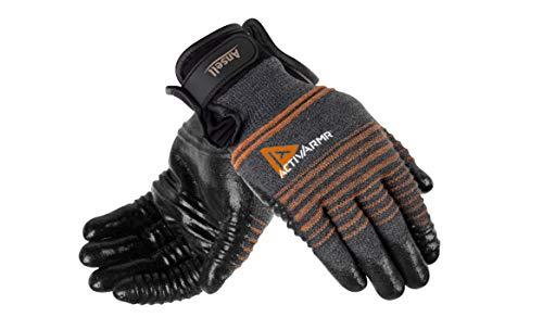 Ansell ActivArmr 97-009 Guanto Multiuso, Protezione Meccanica, Nero, Taglia 9 (1 Paio)