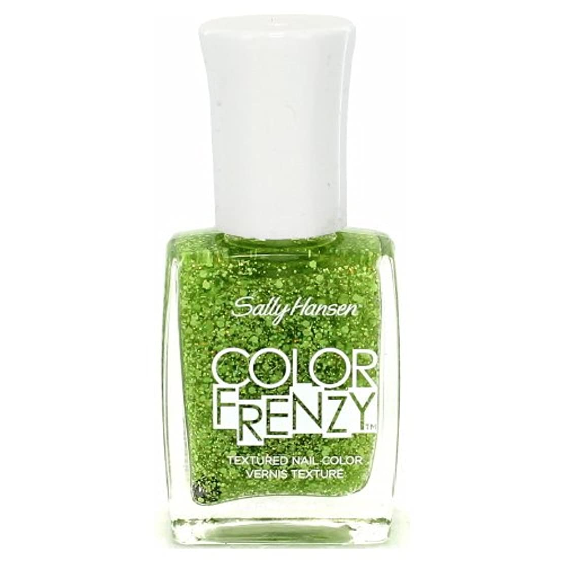 舞い上がる立法ブランク(3 Pack) SALLY HANSEN Color Frenzy Textured Nail Color - Green Machine (並行輸入品)