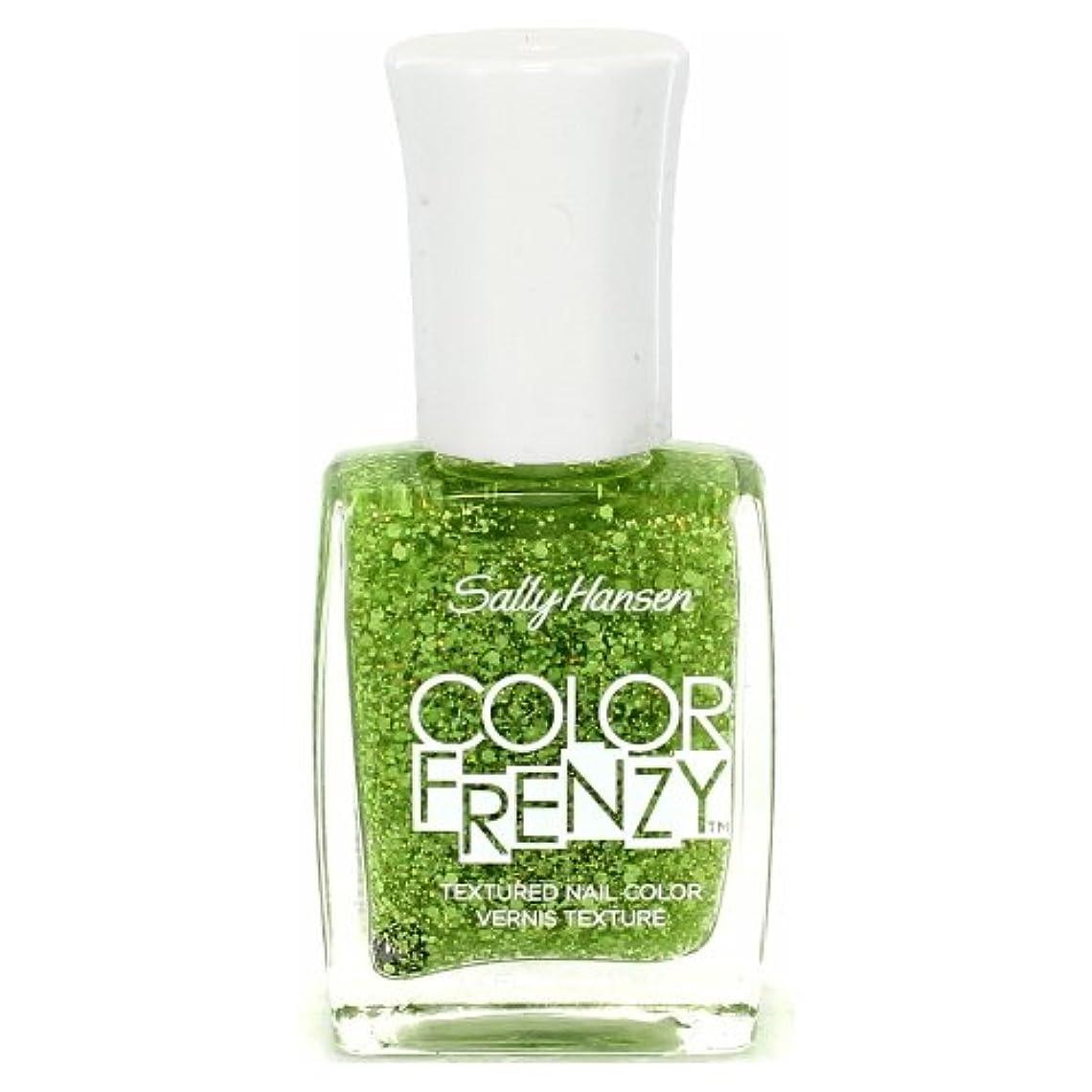 まもなくピラミッド囲い(6 Pack) SALLY HANSEN Color Frenzy Textured Nail Color - Green Machine (並行輸入品)