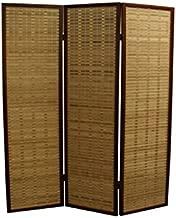 ORE International NYBP-084-3 3-Panel Room Divider, 70.25-Inch, Walnut Rayon