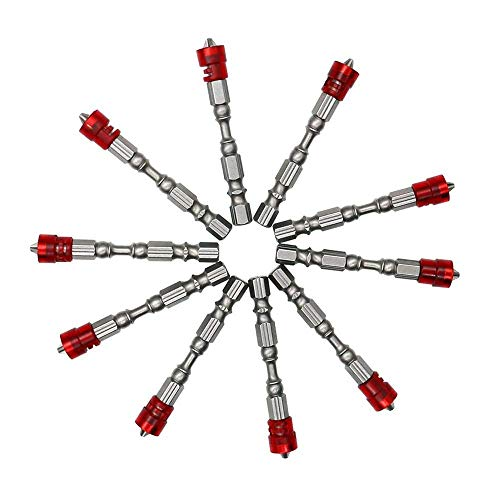 DXX-HR 1/4' vástago Hexagonal Destornillador de Punta magnética 10PCS de 65 mm de Placas de Yeso Yeso Puntas de Destornillador Phillips PH2 Tornillo de accionamiento Herramientas