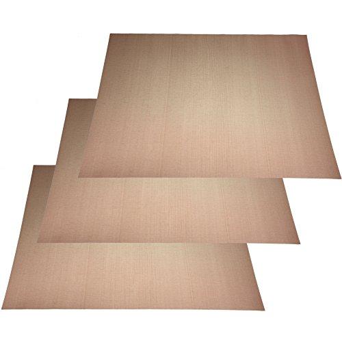 3X Dauerbackfolie Dauerbackpapier Teflon Backpapier Backblechgröße 33x40cm bis 260 Grad Celsius ohne Fett &Öl zuschneidbar Spülmaschinenfest
