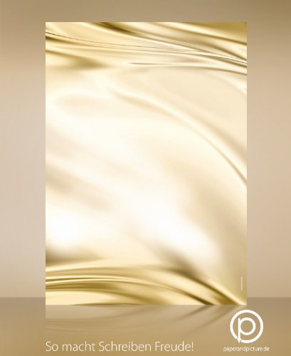 Stoff-Optik Motivpapier Satin, 20 Blatt Briefpapier DIN A4