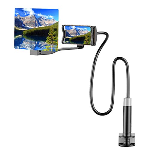 1KTon 3D HD Mobile Phone Screen Magnifier Amplifier Movie Video Mobile Phone High Definition Projection Bracket Adjustable Flexible Holder All Smartphone Cell Phone Accessories