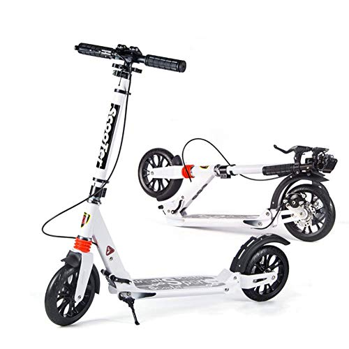 %17 OFF! CFJKN Kick Scooter Adult, Commuter Scooter with Disc Handbrake Adjustable Folding Adult Sco...