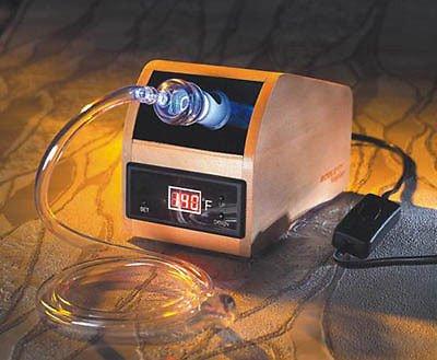 VP-100 Herbal & Aromatherapy Vaporizer Vapor Wooden Case Digital - New