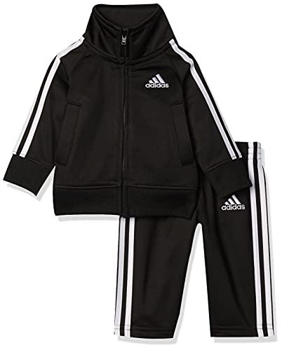 adidas Baby Boys Li'l Tricot Jacket & Pant Clothing Set, Black, 18M