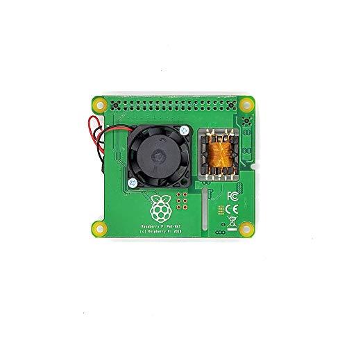 Boné oficial Raspberry Pi Power Over Ethernet (PoE) para Raspberry Pi 3 B+ e 802.3af PoE Network