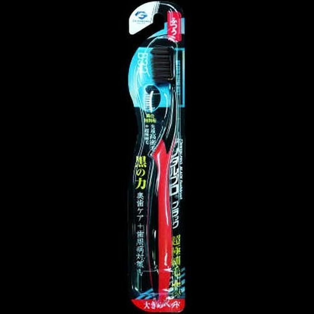 危機スクリュー旅行デンタルプロ ブラック歯ブラシ 超極細毛プラス大きめヘッド ふつう ×2セット
