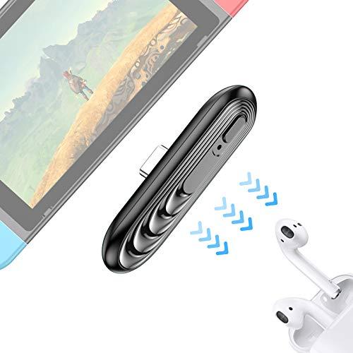 Switch Bluetoothオーディオアダプター トランスミッター レシーバー Bluetooth5.0 低遅延 超薄型 ワイヤレスイヤホン/ヘッドセット接続 Nintendo Switch/lite/PS4/PC対応