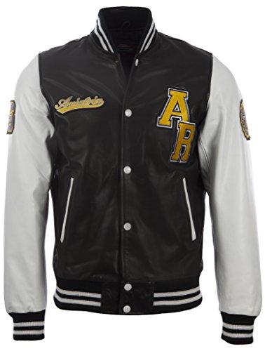 Aviatrix Herren echtes Leder Letterman Baseball-Jacke (VZH7)