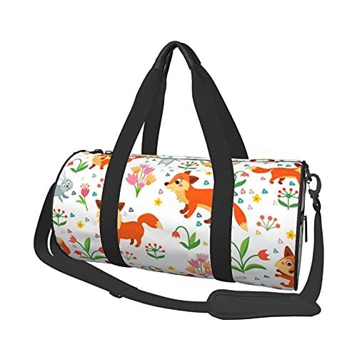 MBNGDDS Fox Bolsa de viaje infantil, ligera, plegable, impermeable, con correa para el hombro, bolsa de deporte para hombres y mujeres, ver imagen, Talla única,