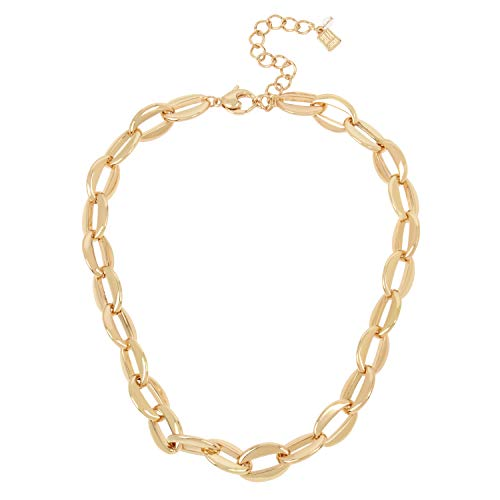 Robert Lee Morris Soho Gold Chain Link Collar Necklace (259478GLD710)