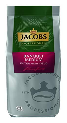 Jacobs Professional Banquet Medium Filterkaffee, 800g , gemahlen, hoch-ergiebig, klassischer Kaffee, ausgewogener und milder Geschmack, UTZ-zertifiziert