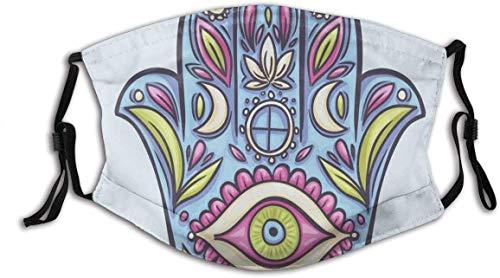 Star Margin Bequemes winddichtes Gesicht Pretect, Frühling Natur inspirierte Design Hand von Fatima Positive Doodle Lily Bloom Druck, Gedruckte Gesichtsdekorationen für alle