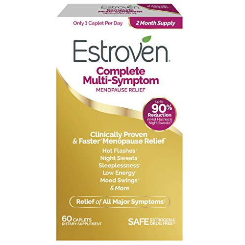 Estroven Complete Multi-Symptom Menopause Relief, Safe, Effective and Drug Free, Clinically Shown to Relieve Multiple Menopause Symptoms*, Reduces Hot Flashes and Night Sweats*, One Per Day, 60 Count