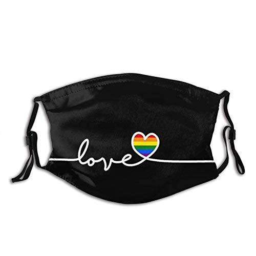 Rainbow LGBT - Máscara facial gay Pride para adultos con 2 filtros...