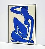 Henri Matisse Blue Nude I 1952 Cuadro Enmarcado- Enmarcado en Moldura de Aluminio Mate Color a...