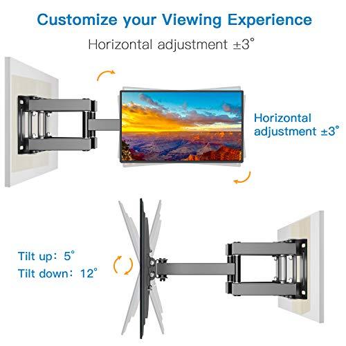 Support Murale TV Inclinable Pivot et Rotation - Mouvement Complet pour téléviseurs VESA 400x400mm à écran Plat LCD LED de32 à 55