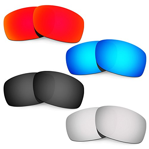 HKUCO Mens Replacement Lenses For Oakley Fives 3.0 Sunglasses - 4 pair