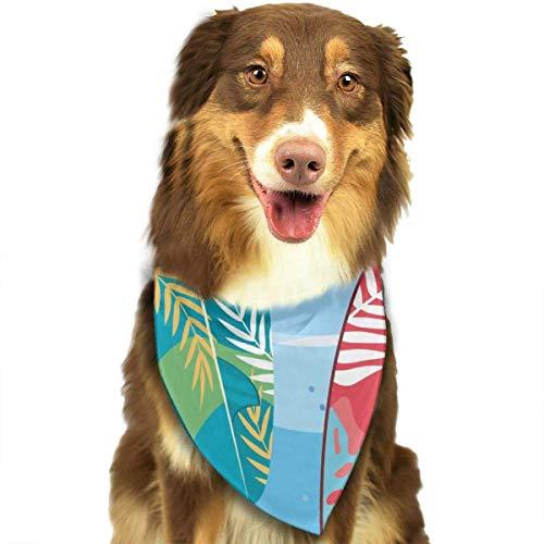 Hojas de Playa Tablas de Surf Collares de Bandana para Perros Pañuelo Triangular Baberos Bufandas Accesorios Mascotas Gatos y Cachorros Toalla de Saliva