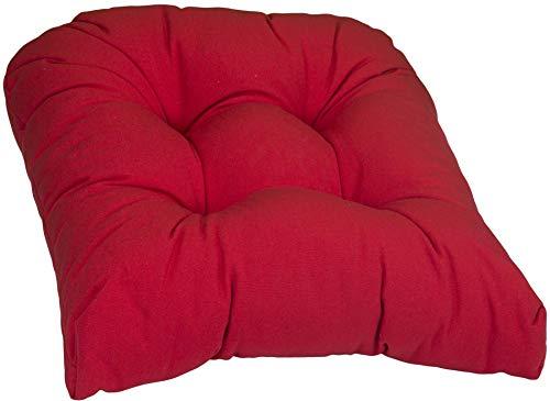 Beo Sitzkissen Gartenstuhl Halbrund   Made in EU   Reißfestes Stuhlkissen Outdoor ohne Ausbleichen   Sitzkissen Stuhl hautfreundlich & waschbar   Atmungsaktives Sitzpolster Gartenstuhl in Rot