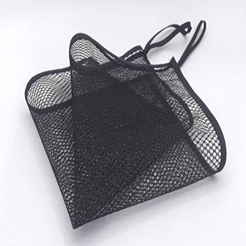 Artículos de juguete para niños artículos diversos bolsa de almacenamiento bolsa de malla negra 28 * 28 cm colgada en el gancho, el grifo, la manija de la puerta