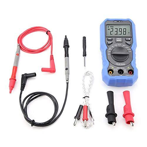 Electrotécnico Digital Multímetro Multímetro de Pinza - Multímetro de Pinza Digital Medidor de Pinza BT de Rango automático AC/DC Corriente Amperaje Tensión Resistencia Temp Medidor probador eléctr