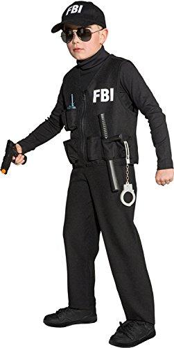Orlob Kinder Kostüm Weste FBI zum Polizist Karneval Fasching Gr.140-152