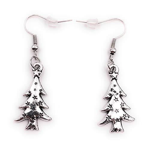 Onwomania Ohrringe Paar Tannenbaum Weihnachten Winter Tanne Christbaum Ohrring aus Metall Ohrschmuck