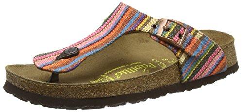 Papillio Damen Gizeh Textil/Leder Zehentrenner, Mehrfarbig (Bohemian Stripes Pink), 35 EU