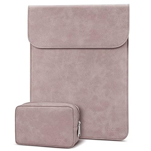 TECOOL 13 3 Zoll Laptop Hülle Tasche Faux Wildleder Schutzhülle für 2021 MacBook Pro 14 M1,2012-2021 MacBook Air/Pro 13, MacBook Air/Pro 13 M1 2020, 13