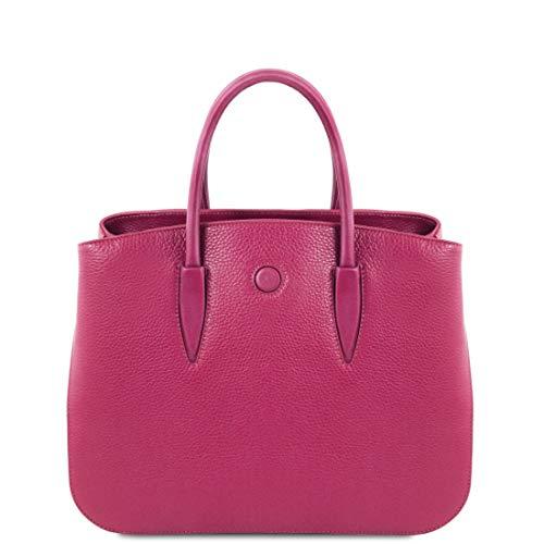Tuscany Leather. Camelia Borsa a mano in pelle - TL141728 (FUCSIA)