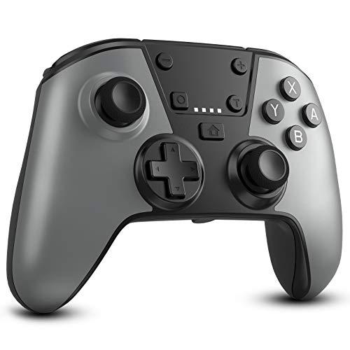Wireless Controller for Switch, Etpark Wireless Gamepad Joystick with Turbo Function Double Vibration and Gyro Axis for Nintendo Switch