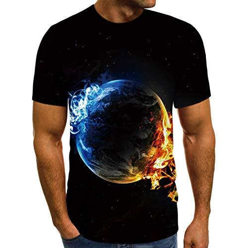 T Shirt Herren Tshirt Tee T-Shirt für Männer Basic Shirt Hoodie Shortsleeve Kurzarm Sweatshirt Sport Oberteil Muscle Shirt Modell