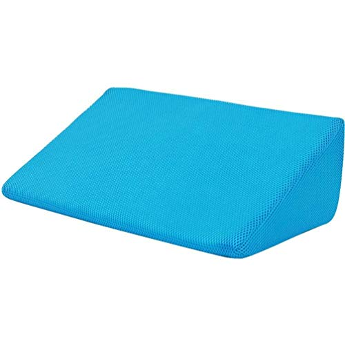 LBBZJM Bed Wedge Pillow - with Memory Foam Support Bed Wedge Pillow Best for Sleeping, Acid Reflux, Post Surgery, Reading, Leg Elevation, Gray (Color : Blue)